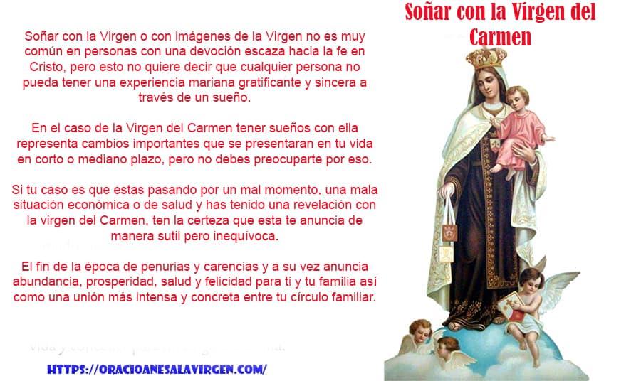 Soñar con la Nuestra señora del Carmen