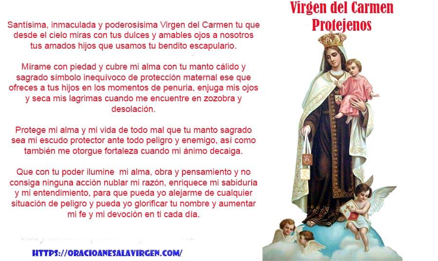 virgen del carmen protégenos