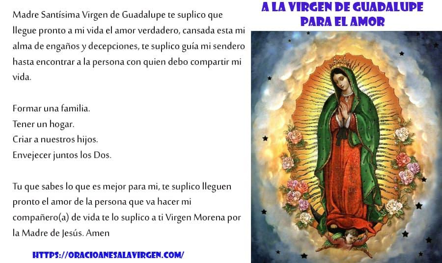 Oración Ala Virgen De Guadalupe Para El Amor
